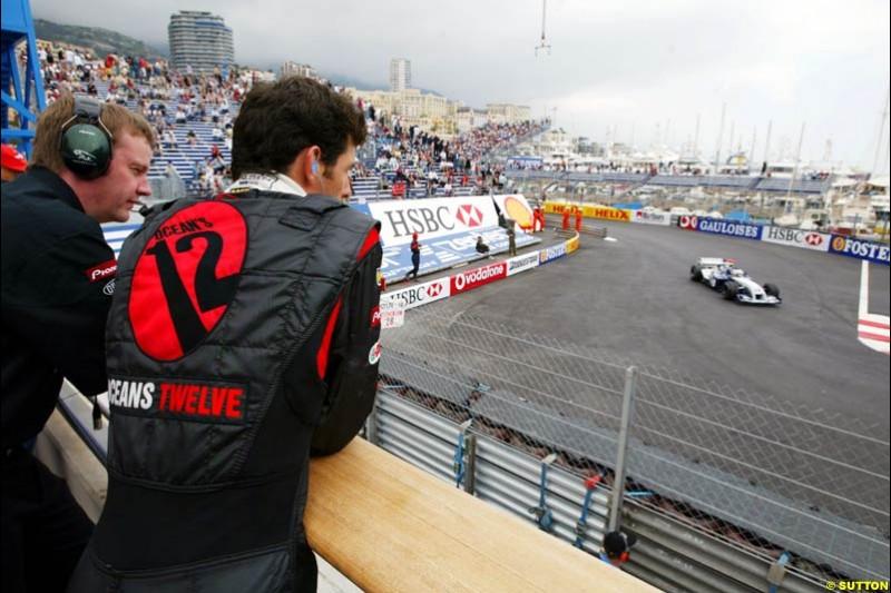 Mark Webber, Monaco GP, Thursday May 20th, 2004.