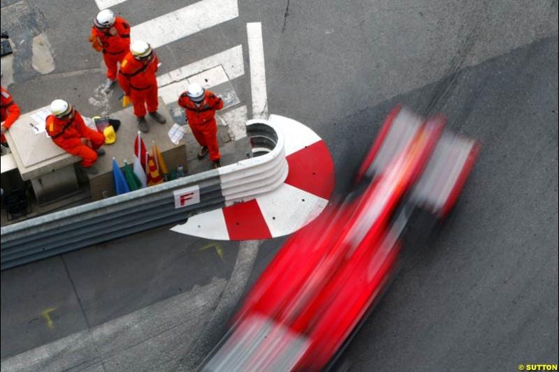 Ferrari, Monaco GP, Thursday May 20th, 2004.
