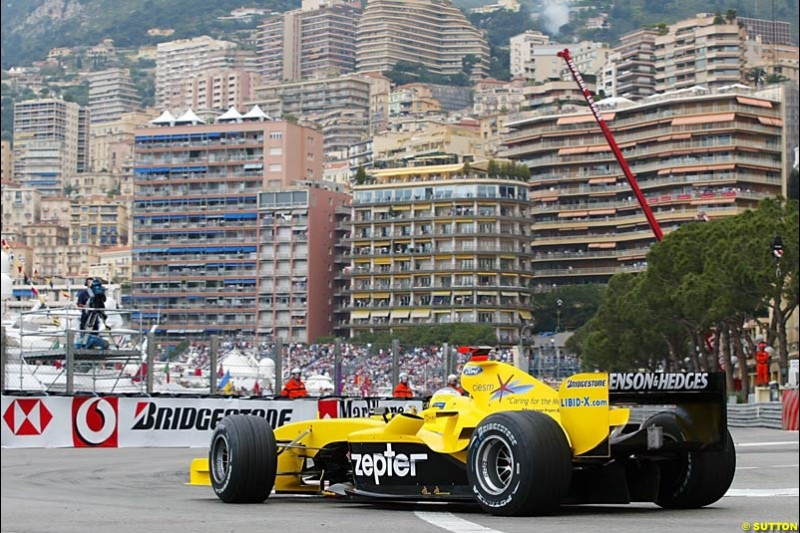 Nick Heidfeld, Jordan-Ford, Monaco GP, Thursday May 20th, 2004.