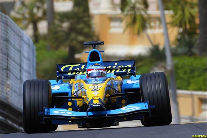 Fernando Alonso, Renault, Monaco GP, Thursday May 20th, 2004.