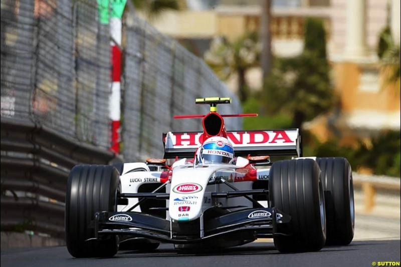 Anthony Davidson, BAR-Honda, Monaco GP, Thursday May 20th, 2004.
