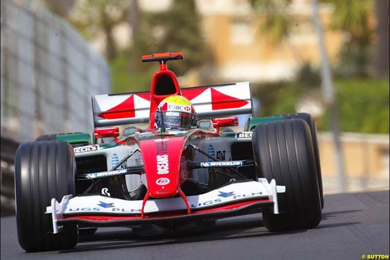 Mark Webber, Jaguar, Monaco GP, Thursday May 20th, 2004.