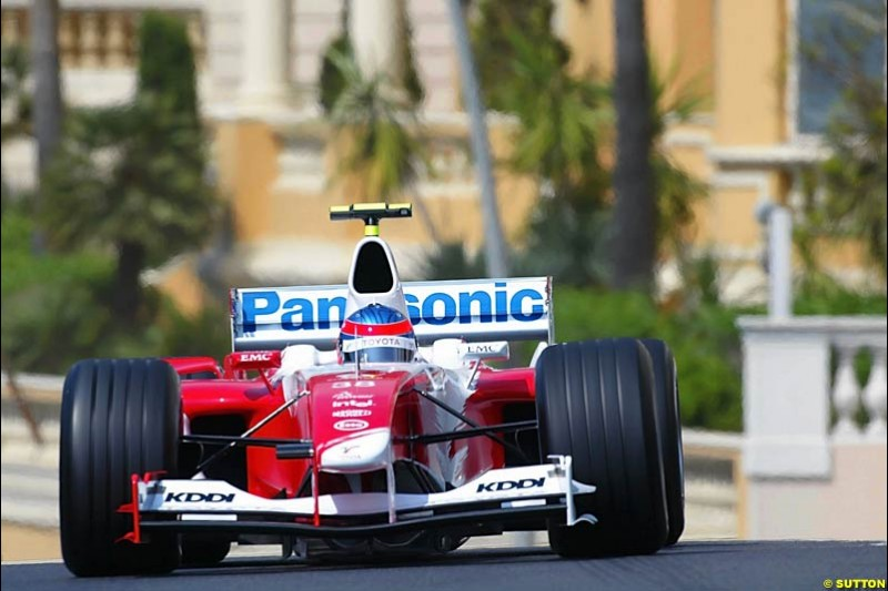 Olivier Panis, Toyota, Monaco GP, Thursday May 20th, 2004.