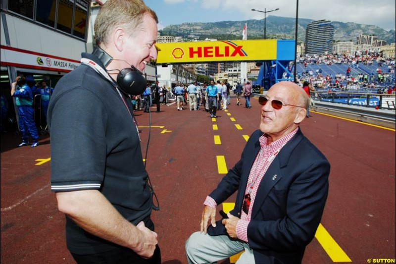 Martin Brundle and Sir Stirling Moss, Monaco GP, Sunday May 23rd, 2004.