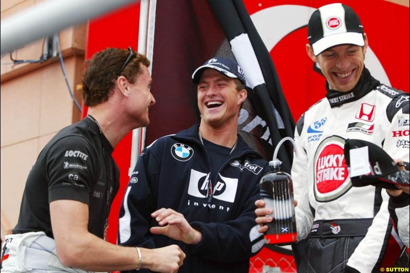 David Coulthard, Ralf Schumacher, and Jenson Button; Monaco GP, Sunday May 23rd, 2004.