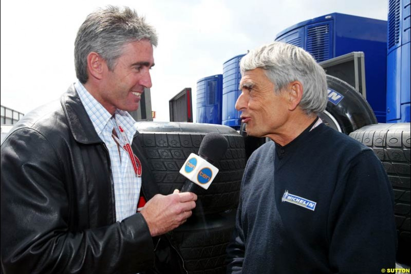 Mick Doohan interviews Pierre Dupasquier, European GP, Thursday May 27th, 2004.