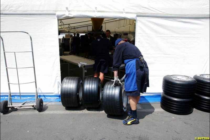 Michelin, European GP, Thursday May 27th, 2004.