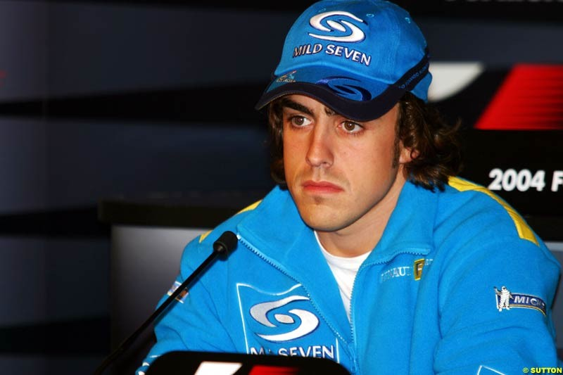 Fernando Alonso, European GP, Thursday May 27th, 2004.