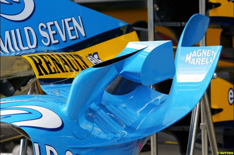 Renault, European GP, Thursday May 27th, 2004.