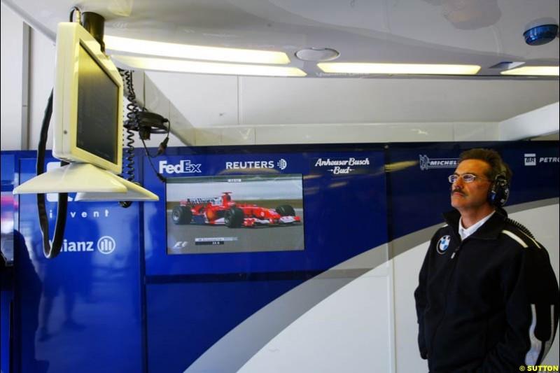 Dr Mario Thiessen, BMW-Williams, European GP, Friday May 28th, 2004.