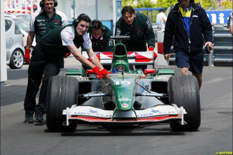 Jaguar, European GP, Friday May 28th, 2004.