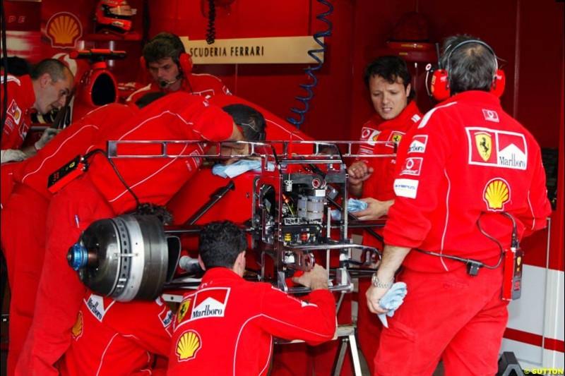 Ferrari, European GP, Friday May 28th, 2004.