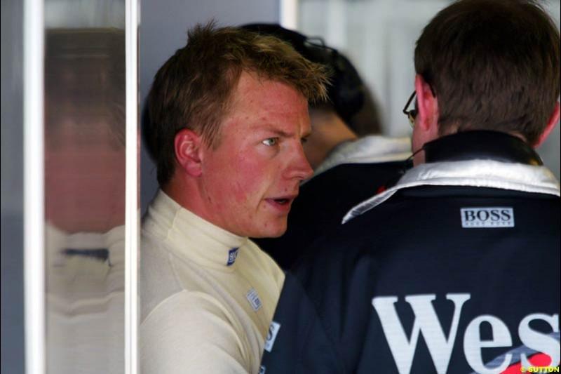 Kimi Raikkonen, European GP, Friday May 28th, 2004.