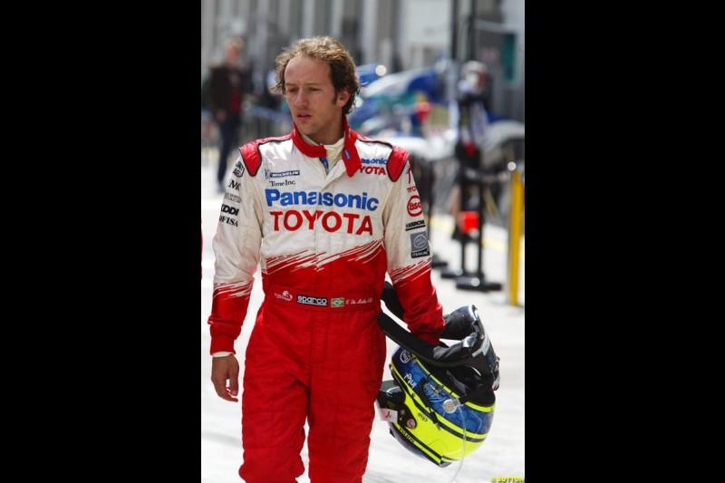 Cristiano da Matta, European GP, Friday May 28th, 2004.