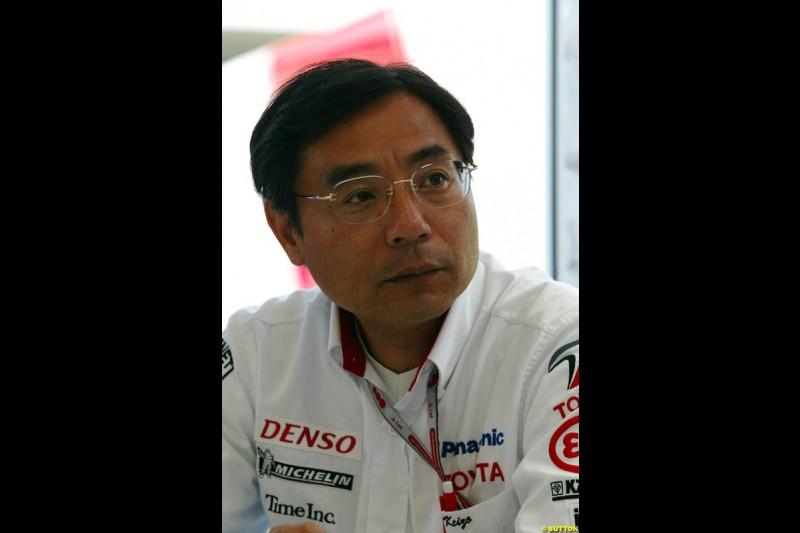 Keizo Takahashi, Toyota, European GP, Friday May 28th, 2004.