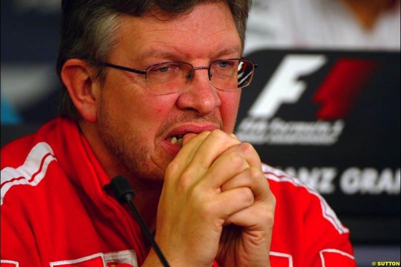 Ross Brawn, European GP, Friday May 28th, 2004.