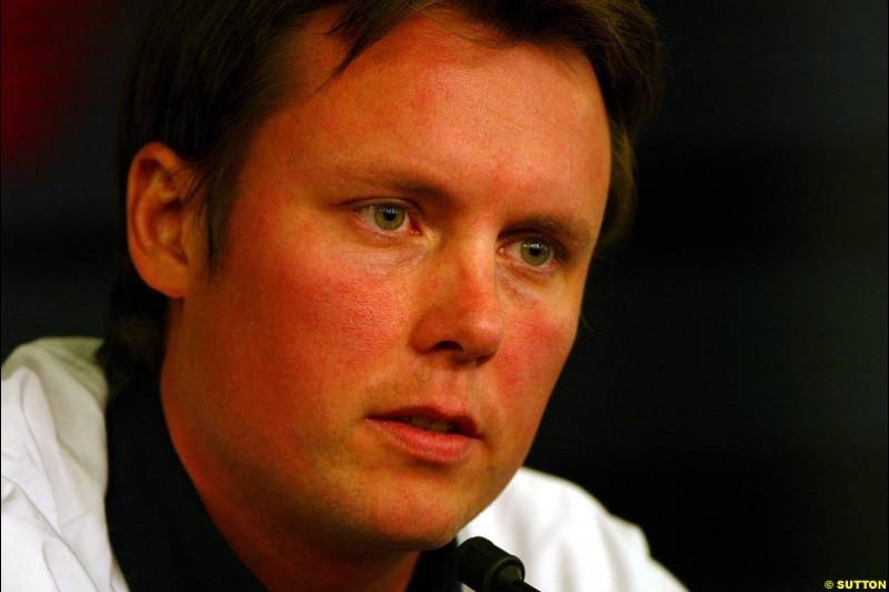 Sam Michael, European GP, Friday May 28th, 2004.