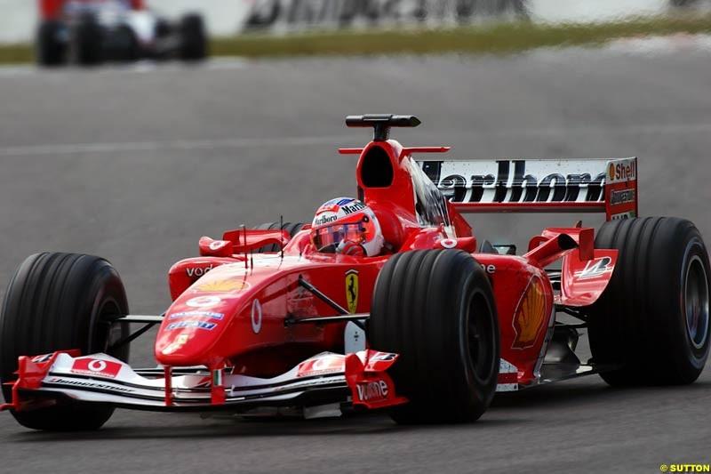 Rubens Barrichello, Ferrari, European GP, Friday May 28th, 2004.