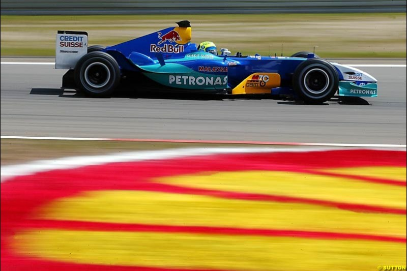 Felipe Massa, Sauber-Petronas, European GP, Friday May 28th, 2004.