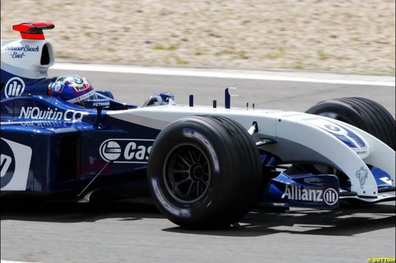 Juan Pablo Montoya, BMW-Williams, European GP, Friday May 28th, 2004.