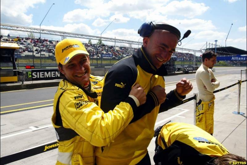 Giorgio Pantano, Jordan-Ford, European GP, Friday May 28th, 2004.