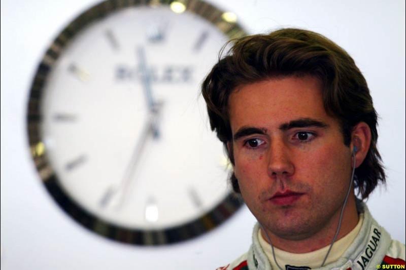 Bjorn Wirdheim, Jaguar, European GP, Friday May 28th, 2004.