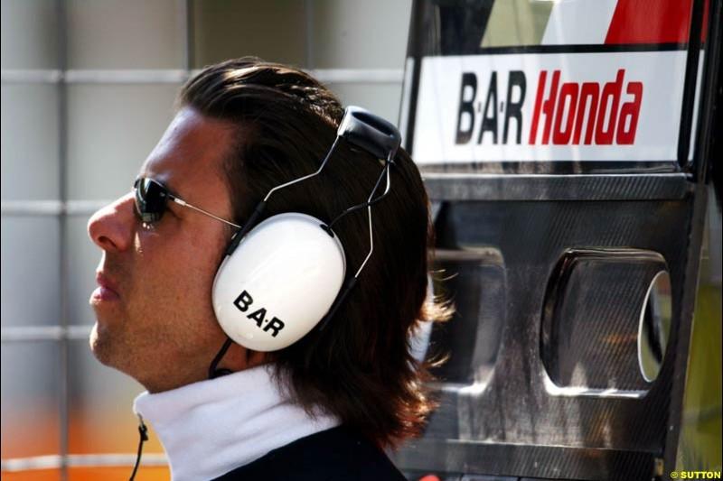 BAR-Honda, European GP, Friday May 28th, 2004.