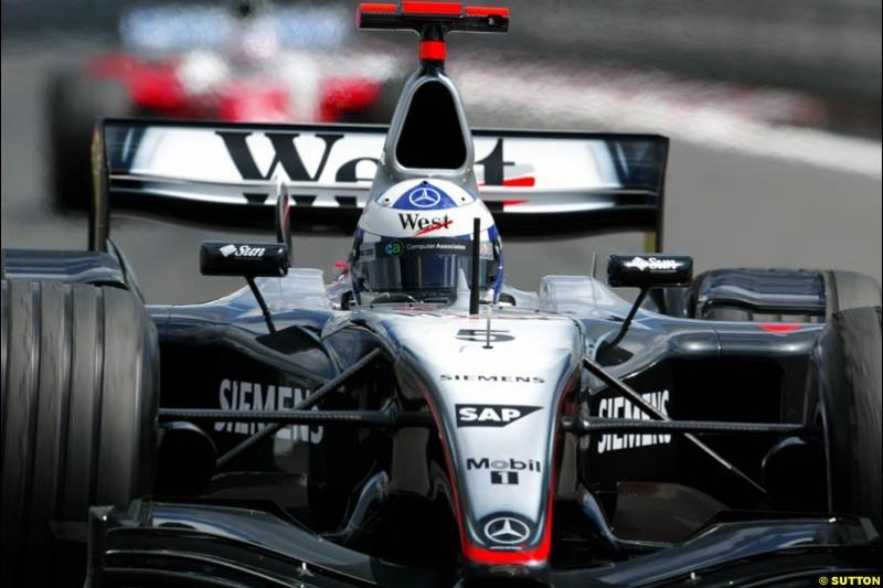 David Coulthard, Mclaren-Mercedes, European GP, Friday May 28th, 2004.