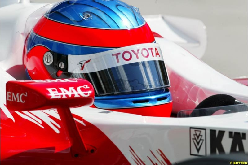 Ricardo Zonta, Toyota, European GP, Friday May 28th, 2004.