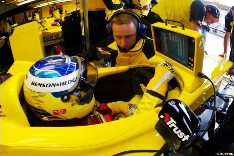 Nick Heidfeld, Jordan-Ford, European GP, Friday May 28th, 2004.