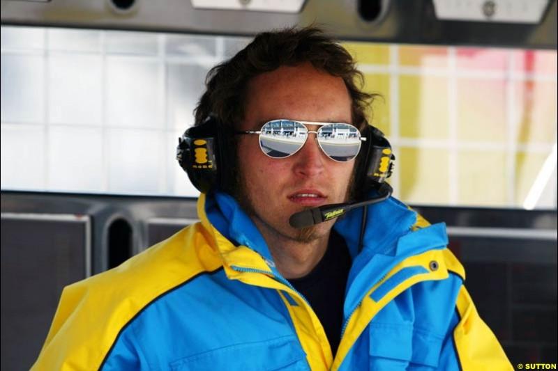 Franck Montagny, Renault, European GP, Friday May 28th, 2004.
