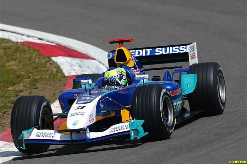 Giancarlo Fisichella, Sauber-Petronas, European GP, Friday May 28th, 2004.