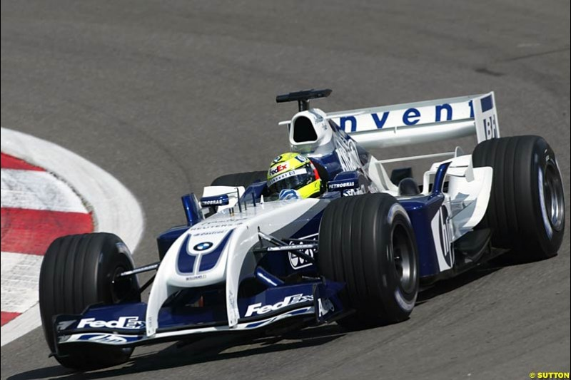 Ralf Schumacher, BMW-Williams, European GP, Friday May 28th, 2004.