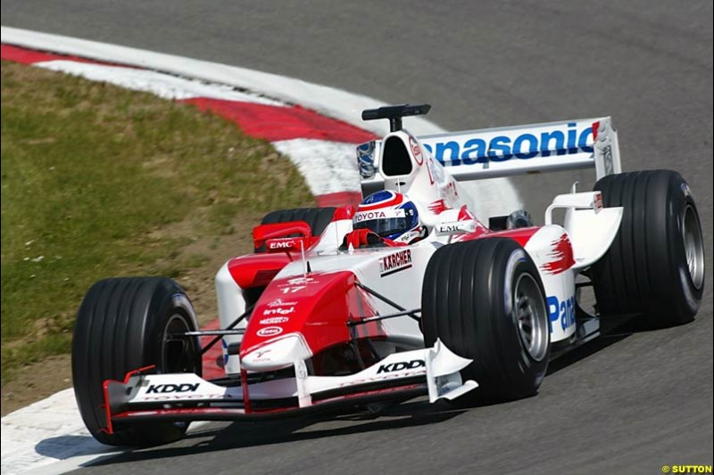 Olivier Panis, Toyota, European GP, Friday May 28th, 2004.