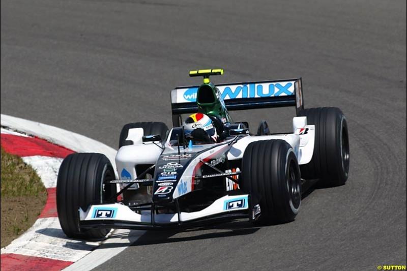 Bas Leinders, Minardi-Cosworth, European GP, Friday May 28th, 2004.