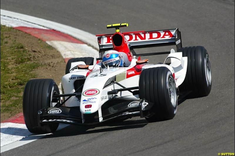 Anthony Davidson, BAR-Honda, European GP, Friday May 28th, 2004.