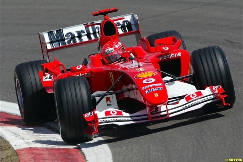 Michael Schumacher, Ferrari, European GP, Friday May 28th, 2004.
