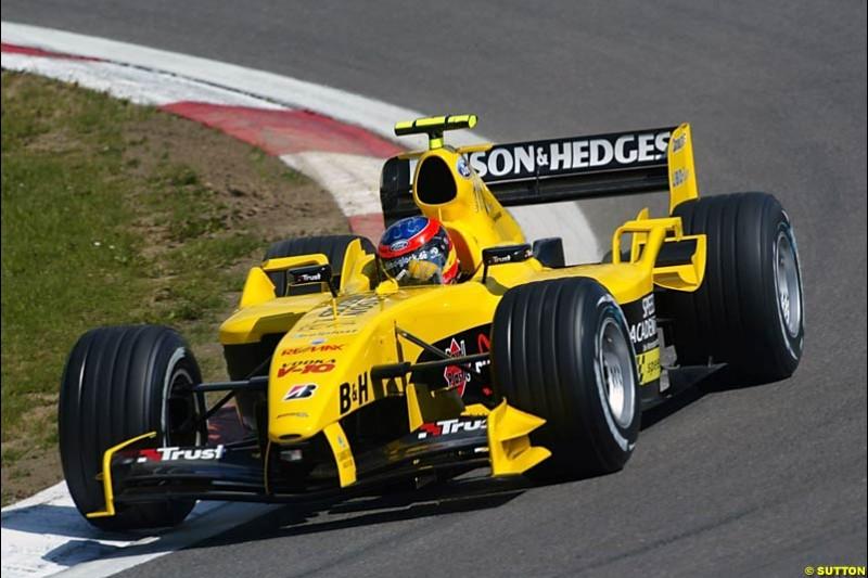 Timo Glock, Jordan-Ford, European GP, Friday May 28th, 2004.