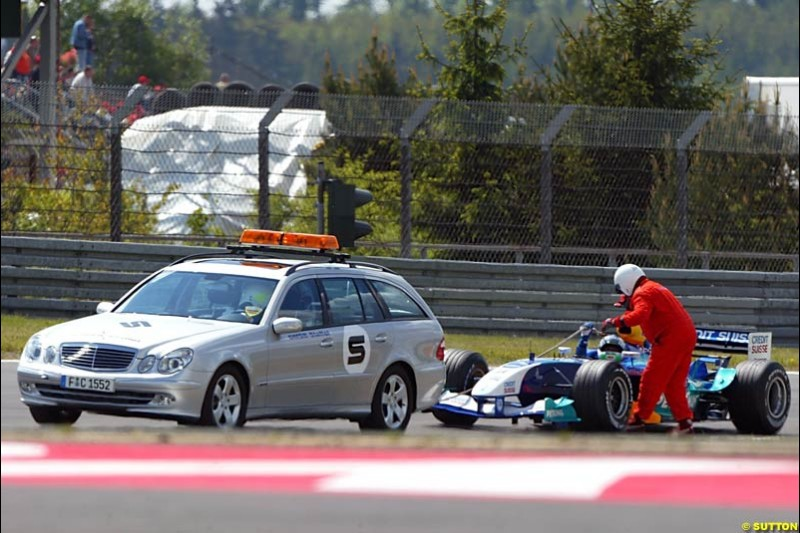 Sauber-Petronas, European GP, Friday May 28th, 2004.
