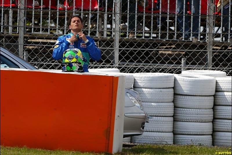 Giancarlo Fisichella, European GP, Friday May 28th, 2004.