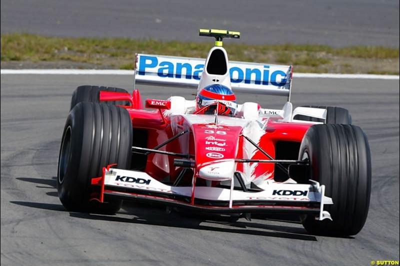 Ricardo Zonta (BRA) Toyota Test Driver. Formula One World Championship, Rd 7, European Grand Prix, Nurburgring, Germany, Practice, 28 May 2004.