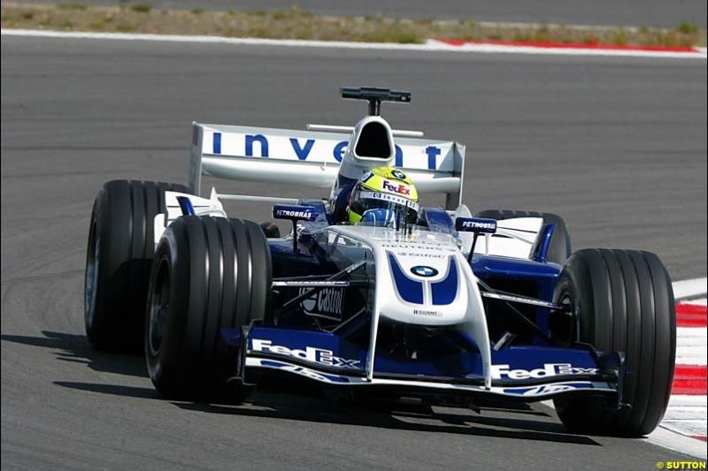 Ralf Schumacher (GER) Williams BMW FW26. Formula One World Championship, Rd 7, European Grand Prix, Nurburgring, Germany, Practice, 28 May 2004.