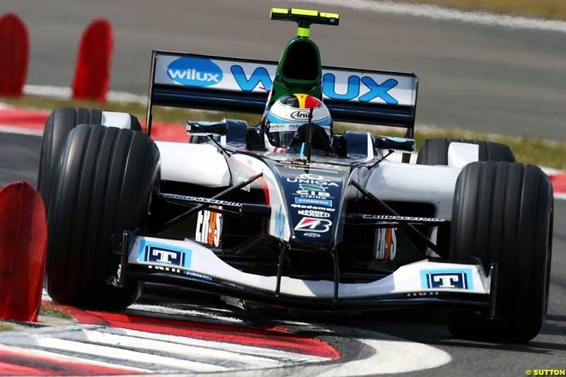 Bas Leinders (BEL) Minardi Test Driver. Formula One World Championship, Rd 7, European Grand Prix, Nurburgring, Germany, Practice, 28 May 2004.