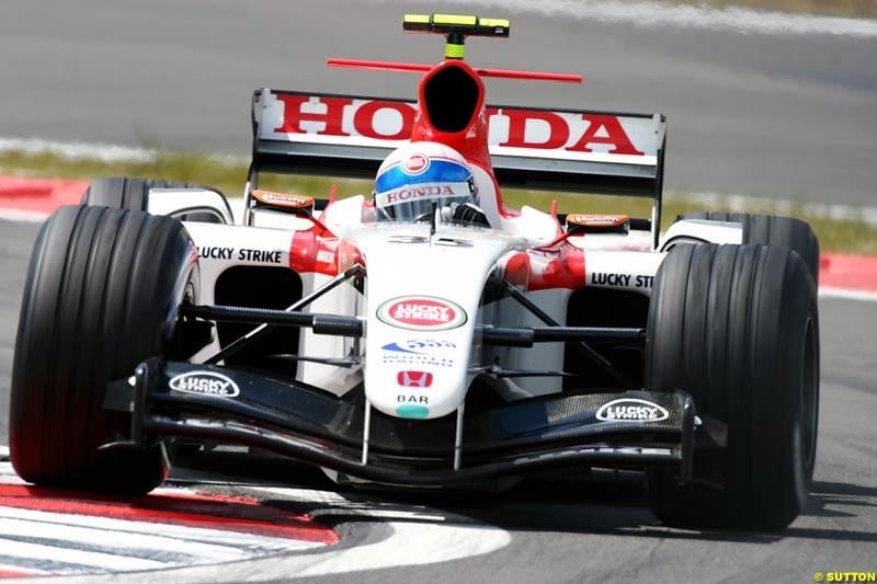 Anthony Davidson (GBR) BAR Test Driver. Formula One World Championship, Rd 7, European Grand Prix, Nurburgring, Germany, Practice, 28 May 2004.