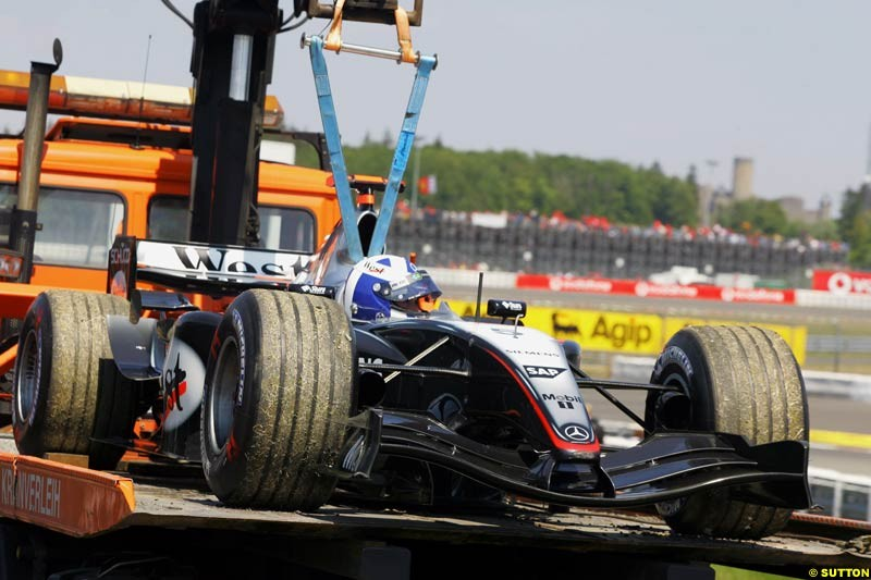 David Coulthard, Mclaren-Mercedes, European GP, Saturday May 29th, 2004.