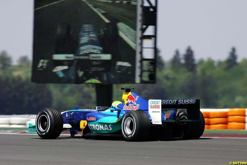 Giancarlo Fisichella, Sauber-Petronas, European GP, Saturday May 29th, 2004.