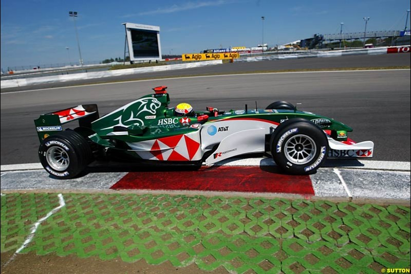Mark Webber, Jaguar, European GP, Saturday May 29th, 2004.