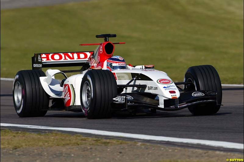 Takuma Sato, BAR-Honda, European GP, Saturday May 29th, 2004.