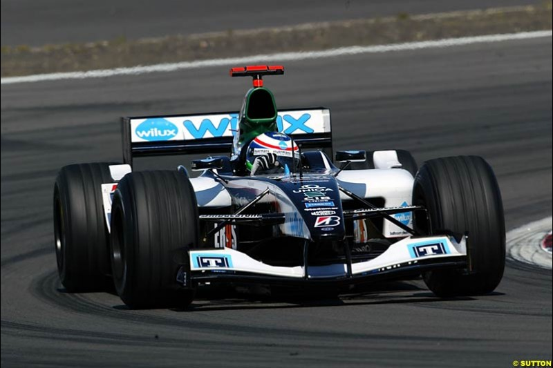 Gimmi Bruni, Minardi-Cosworth, European GP, Saturday May 29th, 2004.