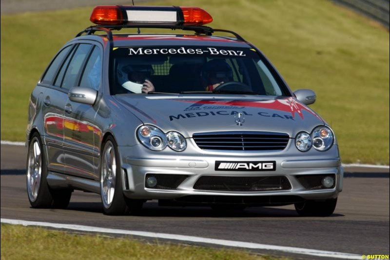 Medical car, European GP, Saturday May 29th, 2004.